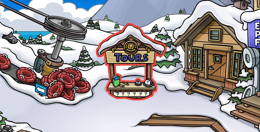 Village de ski - Panneau guide